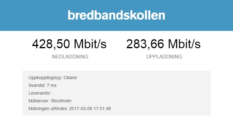 Bild på bredbandskoll med DIR-842