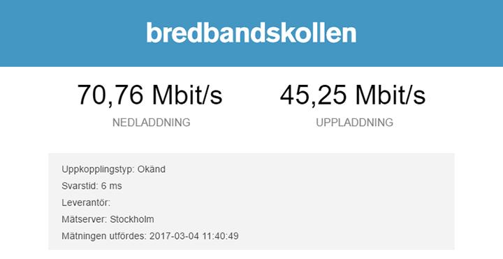 Bild på bredbandskoll med DIR-809