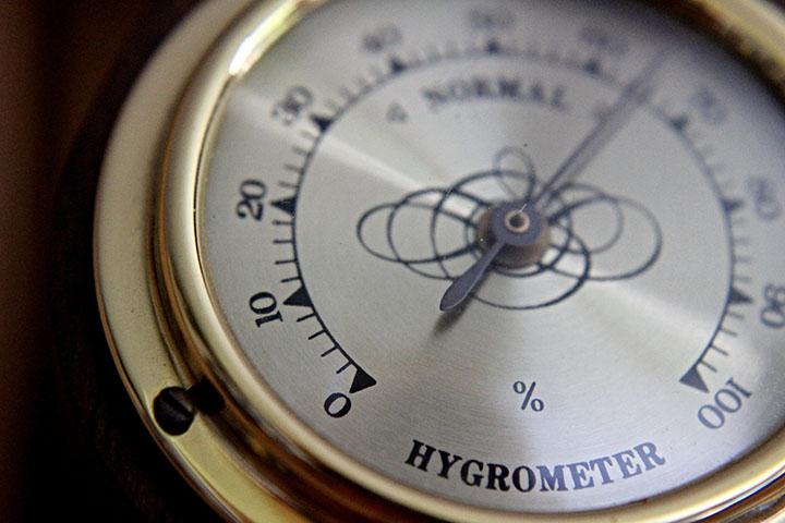Bild på en hygrometer