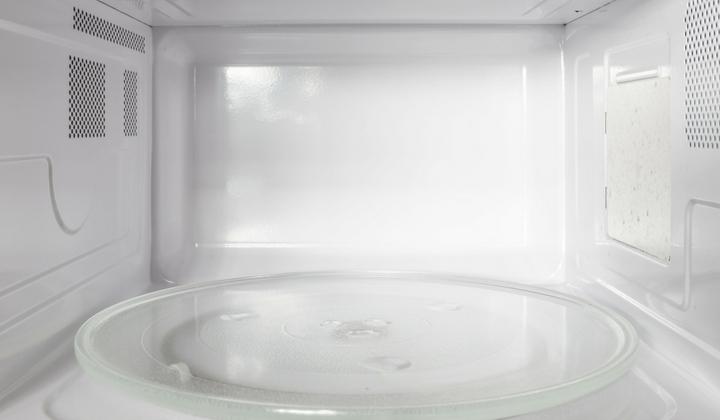 Bild på insidan av en mikrovågsugn